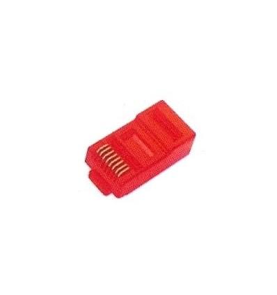 Multitek IP Kablo Tesisatı İçin 50 Mic. Altın Kaplı Kırmızı Renk Plug